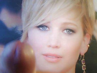 Wytrysk na Jennifer Lawrence